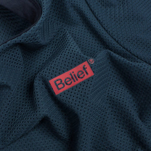 Belief NYC Box Logo Mesh Tee - Dark Teal