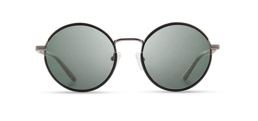 Shwood Hawthorne Acetate Sunglasses - Black Chrome/Mahogany - G15