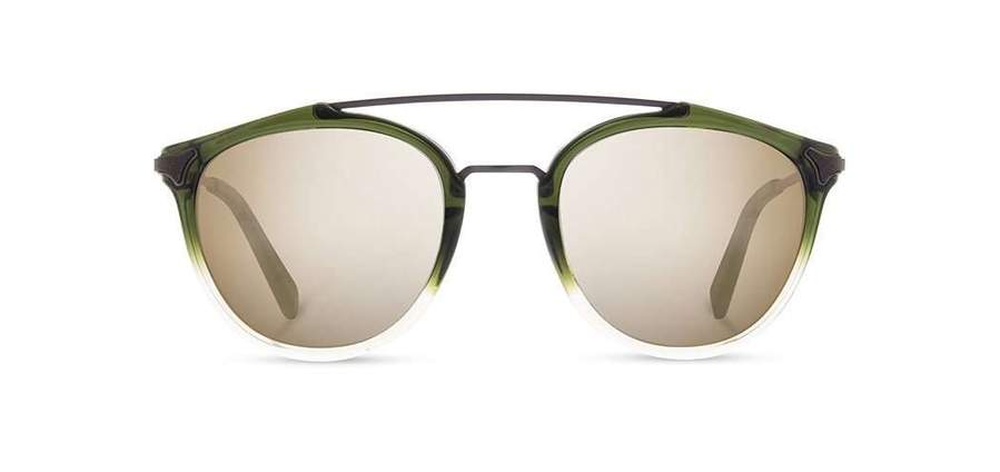 Shwood Kinsrow Acetate Sunglasses - Mojito - Gold Mirror