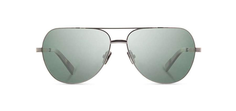 Shwood Redmond Metal Sunglasses - Black Chrome Titanium Mahogany - G15 Polarized