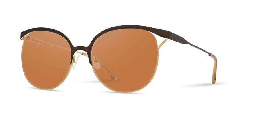 Shwood Odessa Metal Sunglasses - Bronze & Gold - Brown