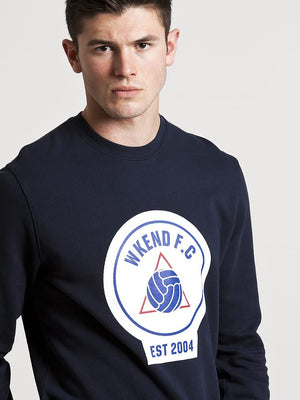 Weekend Offender WKEND FC Crewneck Sweat - Navy