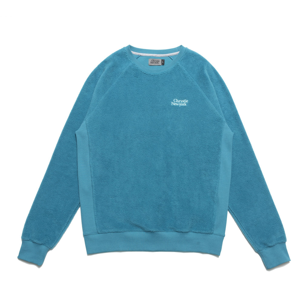 Chrystie NYC - PRM Reversed Fleece Crewneck / Teal Green