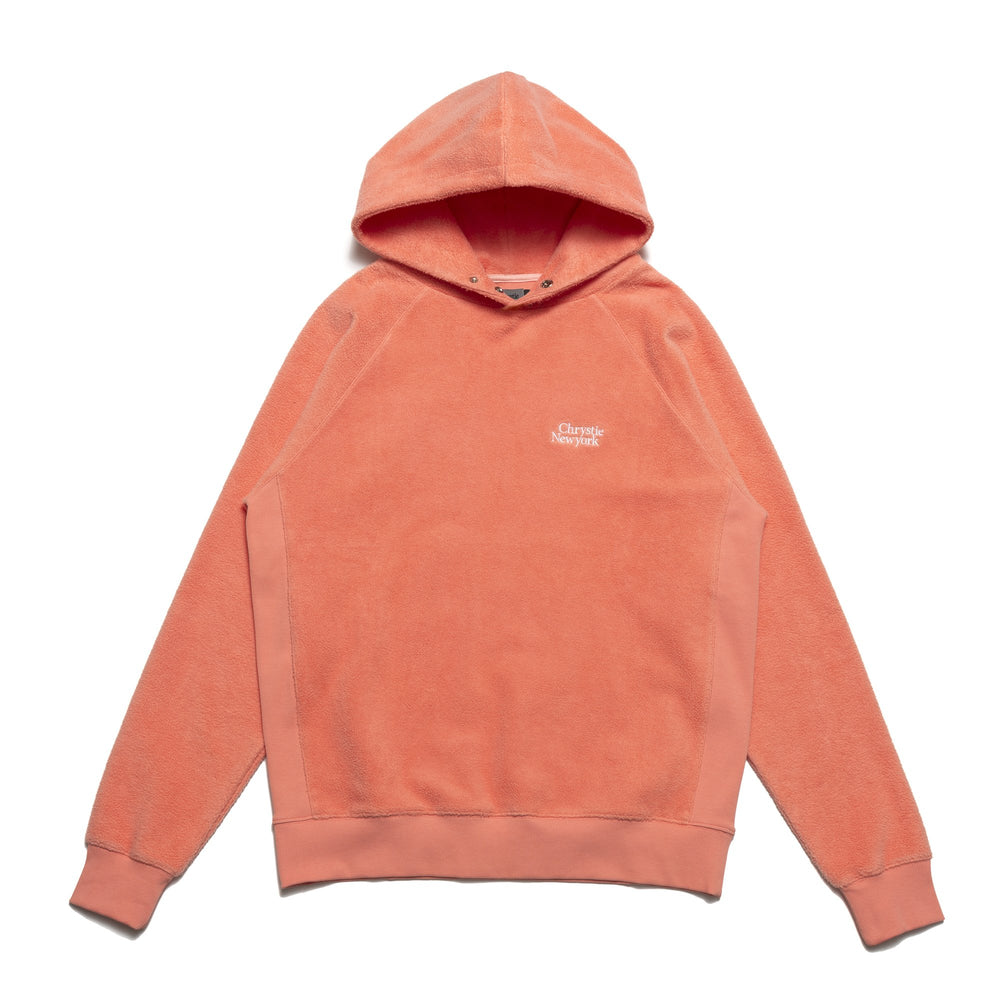 Chrystie NYC - PRM Reversed Fleece Hoodie / Coral