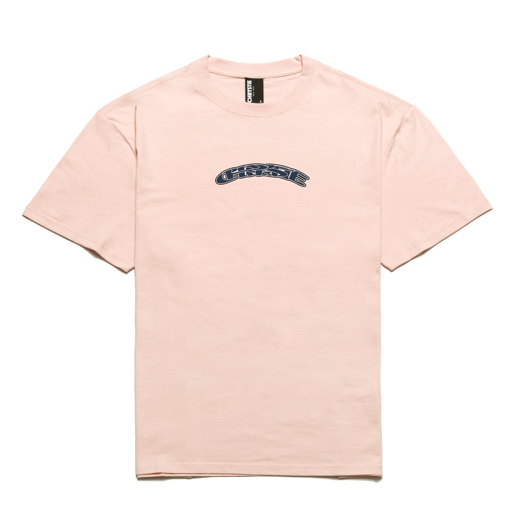 Chrystie NYC x Soho Warriors - SWFC Twisted logo T-Shirt / Light Pink