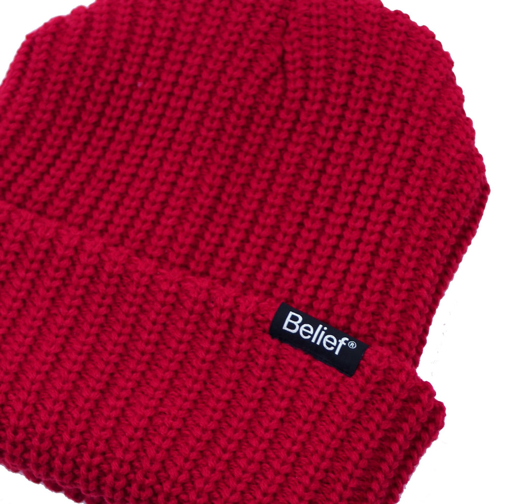 Belief NYC Lumberjack Beanie - Dark Red