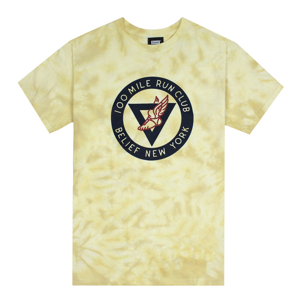 Belief NYC Run Club Tee - Yellow Dye