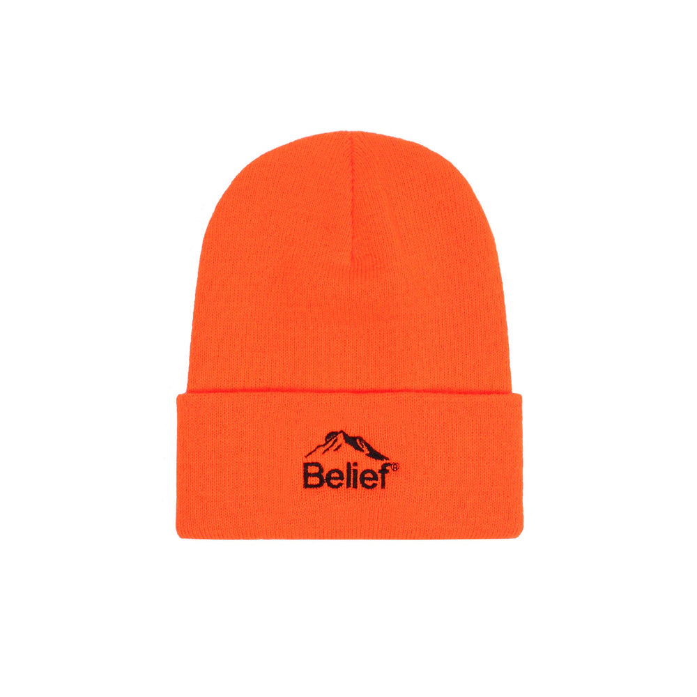 Belief NYC Summit Beanie - Blaze Orange