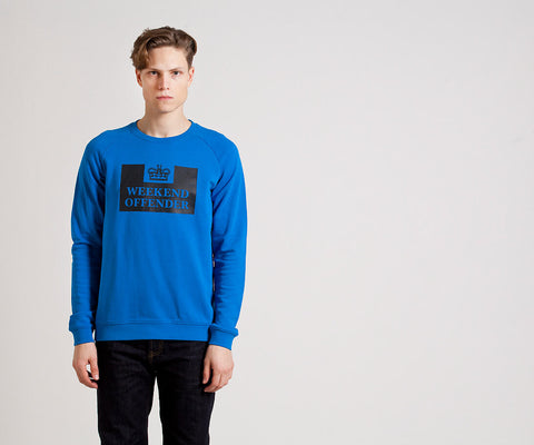 Weekend Offender Penitentiary Classic Crewneck - Bondi Blue