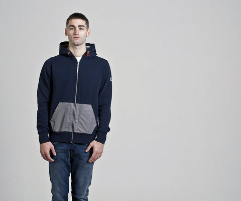 Weekend Offender Fama Reflective Hoody - Navy