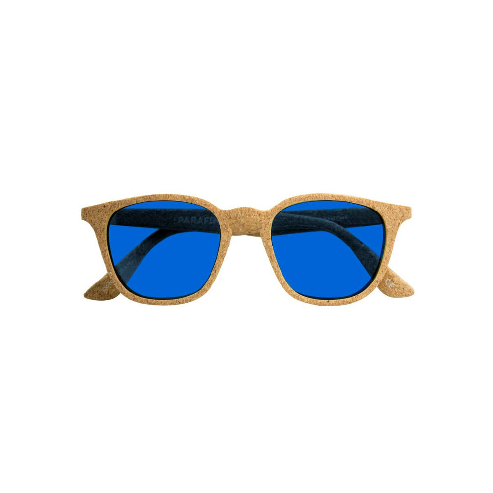 Parafina Niebla Sunglasses - Natural Cork/Parafina Blue