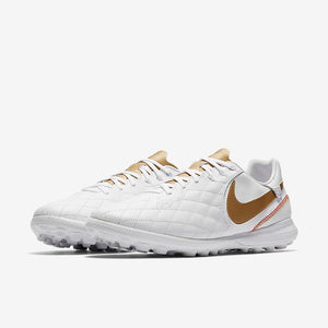 Nike Lunar LegendX 7 Pro 10R TF - Turf Soccer Shoes - White/Metallic Gold
