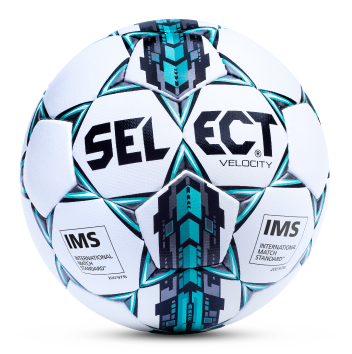 Select Sport Velocity Soccer Ball - White/Blue