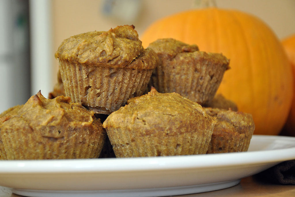 healthy pumpkin honey muffins