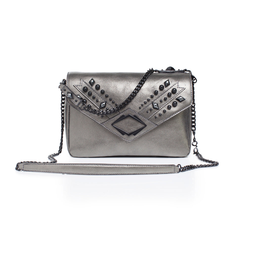 grande gg metallic leather day bag