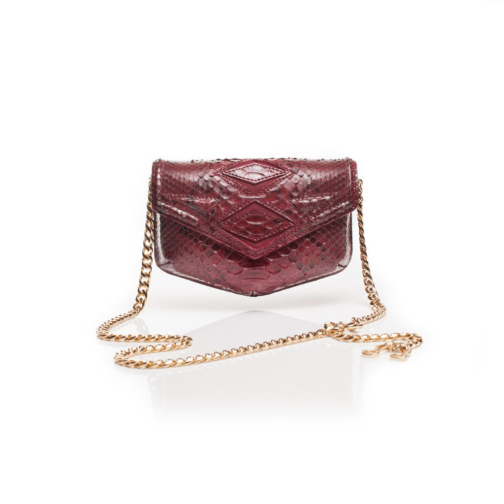 rebel belt bag red python