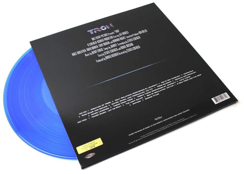 Wendy Carlos ‎– Tron (Original Motion Picture Soundtrack) (2xLP - 180 Gram Blue Vinyl) Audio Fidelity