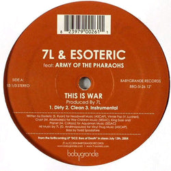 "7L & Esoteric - This Is War (feat. Army of the Pharaohs) (12"") Babygrande"
