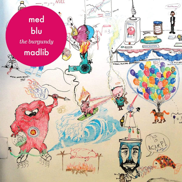 "MED / Blu / Madlib - The Burgundy EP (12"" - Magenta Swirl Vinyl) Bang Ya Head Entertainment"