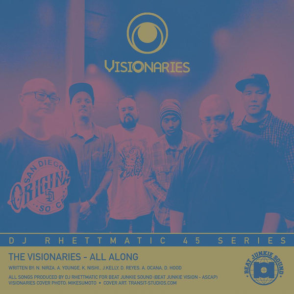 "The Visionaries / Crown Royale - All Along b/w Stratasphere (7"") Beat Junkie Sound"