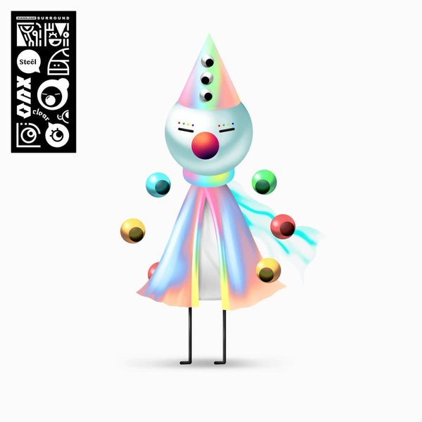 "Iglooghost - Clear Tamei / Steel Mogu (LP + Clear Vinyl 12"") Brainfeeder"