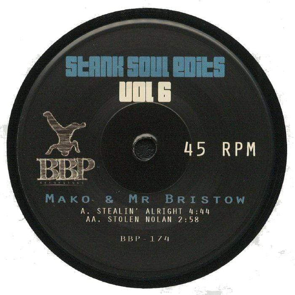 "Mako & Mr Bristow - Stank Soul Edits Vol. 6 (7"") Breakbeat Paradise Recordings"