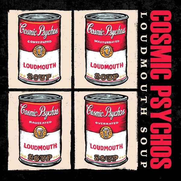 Cosmic Psychos - Loudmouth Soup (LP - Red/White Vinyl) Burger Records