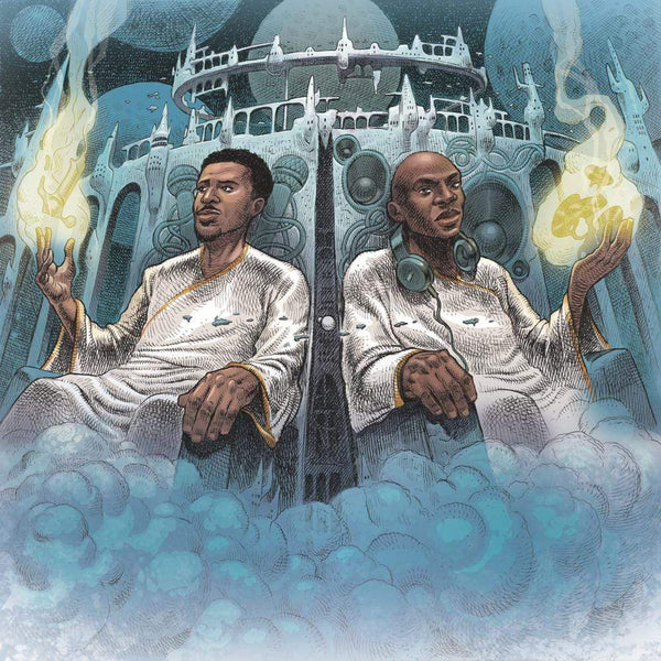 Blu & Nottz - Gods in the Spirit, Titans in the Flesh (LP - Electric Blue/Yellow Swirl Edition) Coalmine Records
