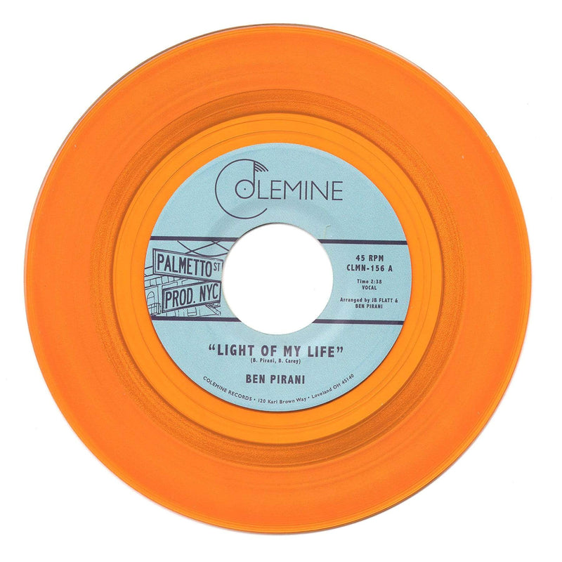 "Ben Pirani - Light Of My Life b/w Dreamin's For Free (7"" - Gold Vinyl) Colemine Records"