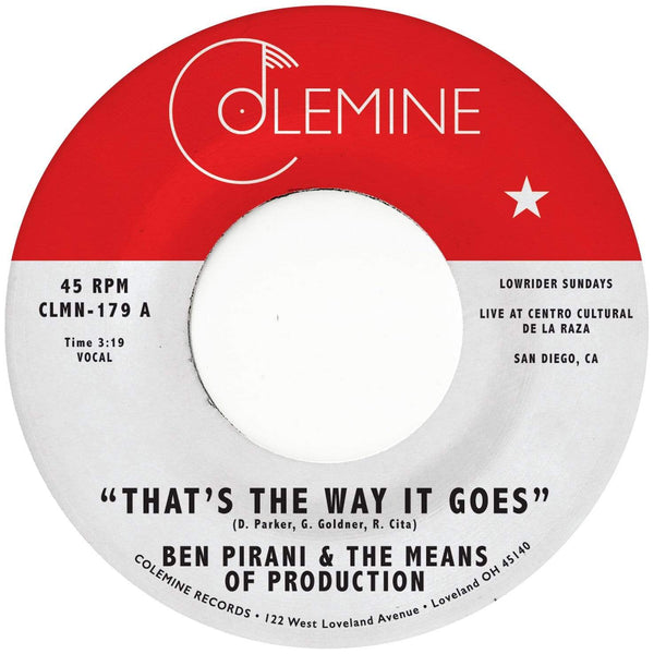 "Ben Pirani - That's The Way It Goes (7"") Colemine Records"