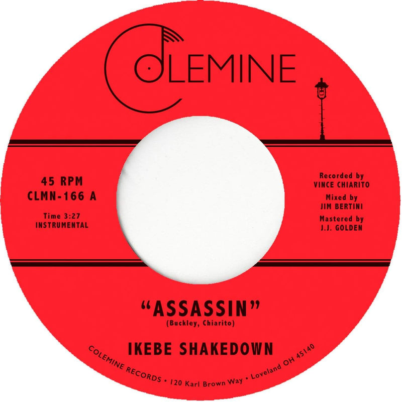 "Ikebe Shakedown - Assassin b/w View From Above (7"" - Clear/Black Swirl) Colemine Records"