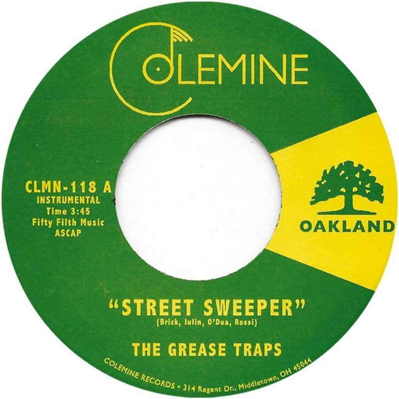 "The Grease Traps - Street Sweeper (7"") Colemine Records"