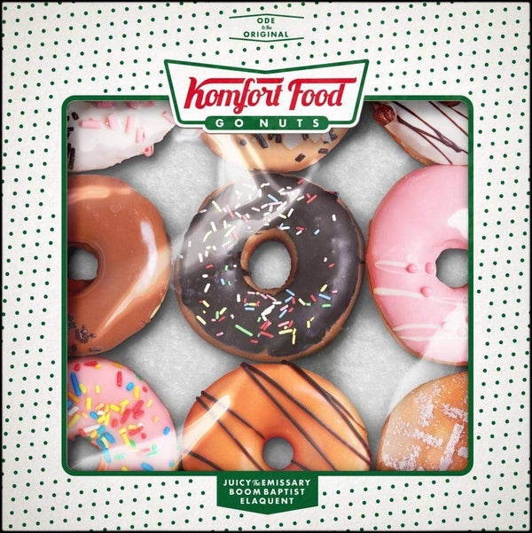 Elaquent, BoomBaptist, & Juicy the Emissary - Komfort Food (Glazed Chocolate Vinyl LP) Cream Dream Records