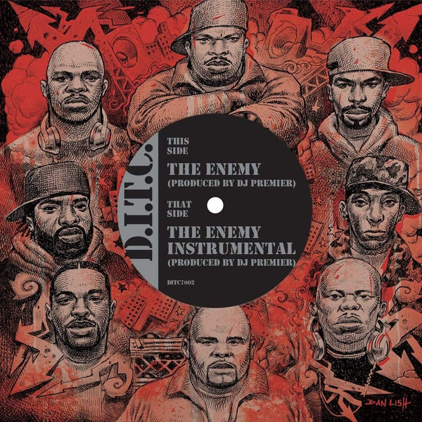 "D.I.T.C. - The Enemy produced by DJ Premier b/w Instrumental (7"") D.I.T.C. Studios"