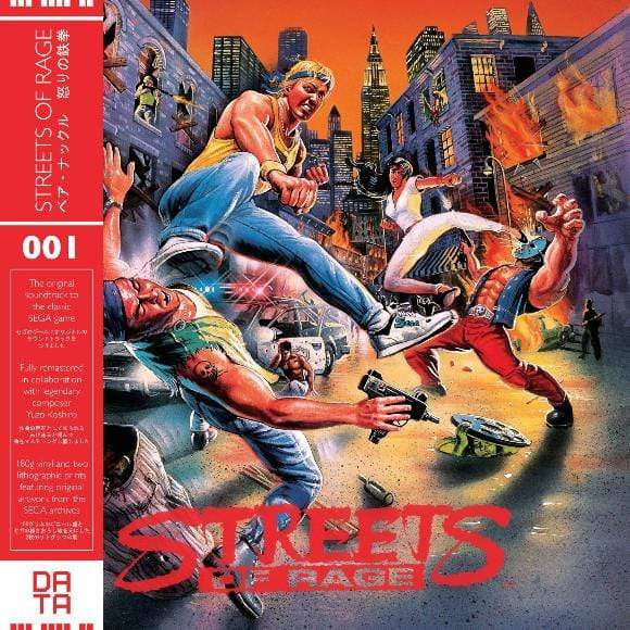 Yuzo Koshiro - Streets Of Rage (LP - 180 Gram Red Vinyl + Lithographic Prints) Data Discs