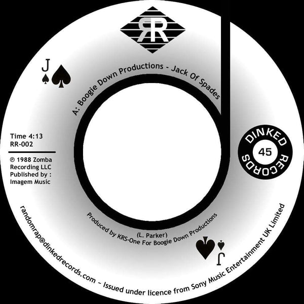 "Boogie Down Productions - Jack Of Spades b/w Instrumental (7"") Dinked Records"