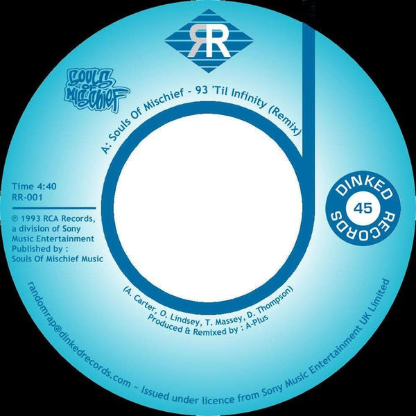 "Souls Of Mischief - 93' Til Infinity (Remix) (7"") Dinked Records"