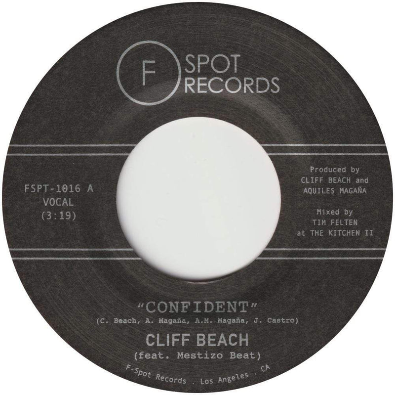 "Cliff Beach (feat. Mestizo Beat) - Confident b/w Penny Candy (7"") F-Spot Records"