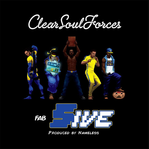 Clear Soul Forces - Fab Five (Produced by Nameless) (2xLP - Yellow/Navy Vinyl - Fat Beats Exclusive) Fat Beats Records