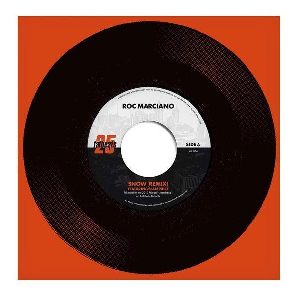 "Roc Marciano - Snow Remix feat. Sean Price b/w Ridin' Around (7"" - Fat Beats Exclusive 25 Year 7"" Series) Fat Beats Records"