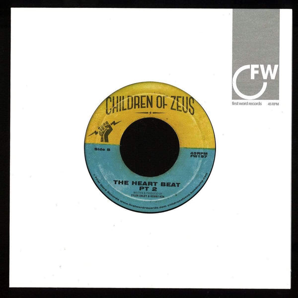 "Children of Zeus - Hard Work b/w The Heart Beat (7""  - Import) First Word Records"