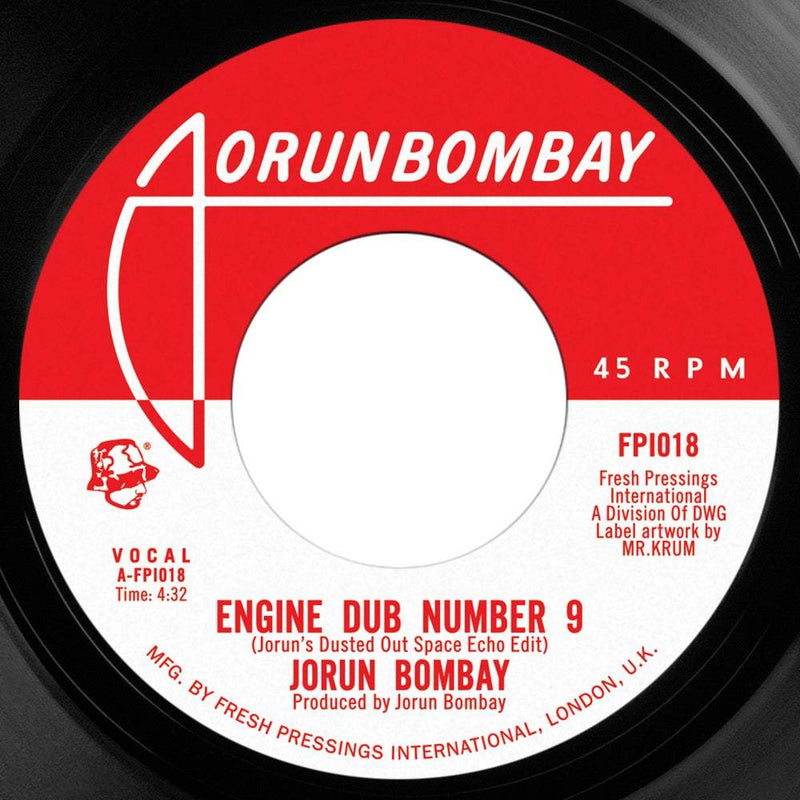 "Jorun Bombay - Engine Dub Number 9 b/w Opening Act (ft Emskee) (7"") Fresh Pressings"