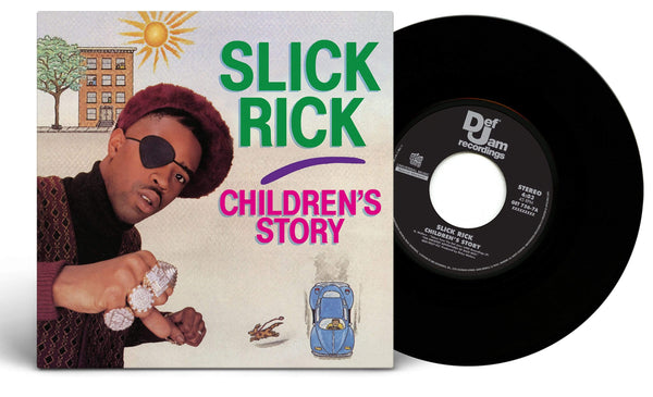 "Slick Rick - Children's Story b/w The Moment I Feared (7"") Get On Down"