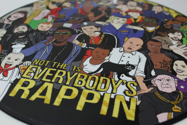 Not the 1s - Everybody's Rappin' (LP - Picture Disc) Gold Robot Records
