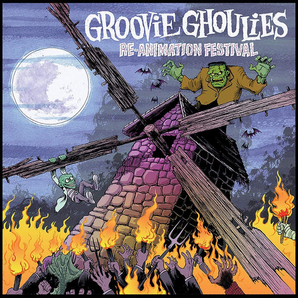Groovie Ghoulies - Re-Animation Festival (LP - WHITE MARBLE VINYL) Green Door Recording Co.