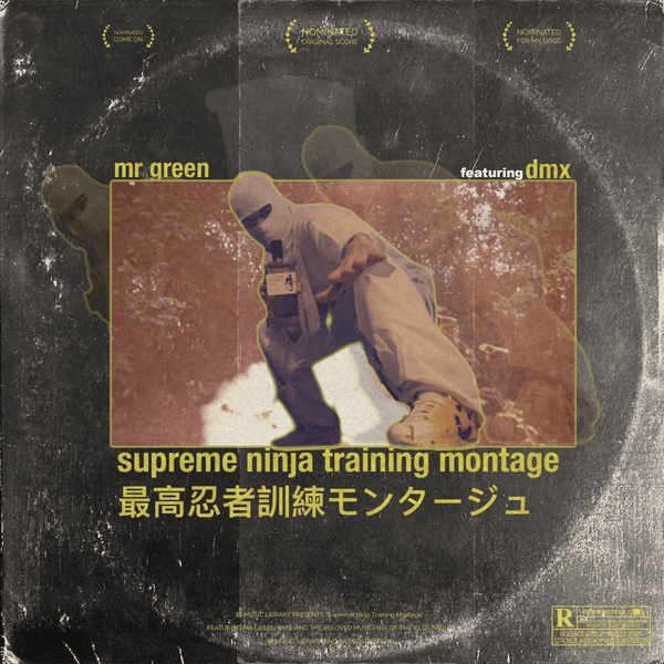 "Mr. Green - Supreme Ninja Training Montage feat. DMX (7""- Fat Beats Exclusive Yellow/Red Splatter) Green Music Group"