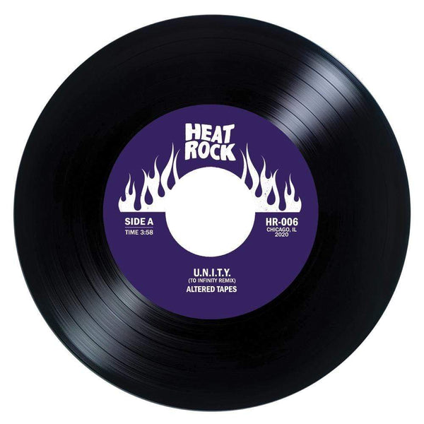 "Altered Tapes - U.N.I.T.Y. [To Infinity Remix + Instrumental] (7"") Heat Rock Records"
