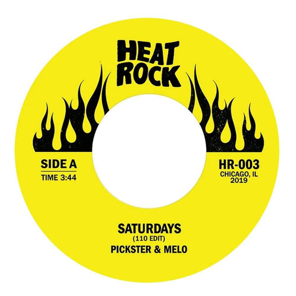 "Pickster & Melo - Saturdays (110 Edit) b/w Altered Tapes - It's Like Butter (R.I.P. Phife Dawg) (7"") Heat Rock Records"
