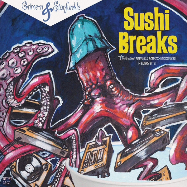 "Grime-n & Starfunkle - Sushi Breaks (7"" - Blue Vinyl) ILLECT Recordings"