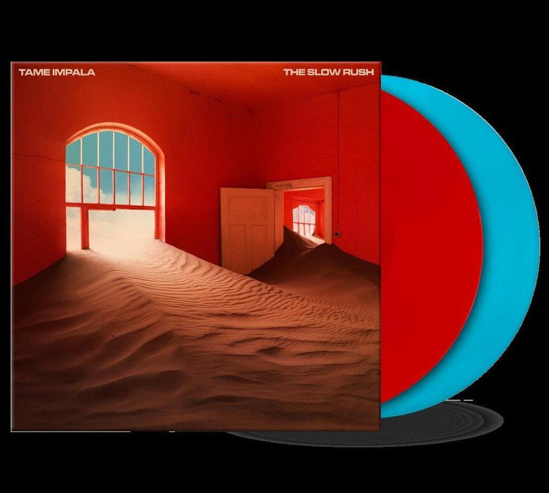 Tame Impala - The Slow Rush (2xLP - Limited Red/Light Blue Vinyl) Interscope Records
